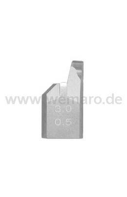 Sichtflächen-Abstechmesser B-19 mm, Nutbr. 3,0 mm, T=0,5 mm rechts