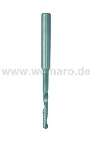 Wasserschlitzfräser VHM 5x30/50/100 mm RL/RD mit Stahlschaft 8 mm