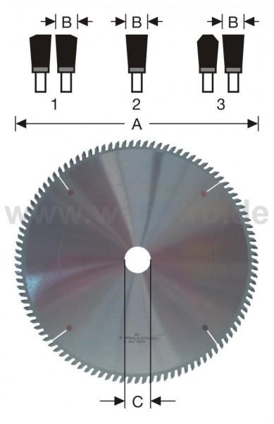 Kreissägeblatt HM-bestückt 180x3,5/3,2x20 mm Z-34 pos. KS 4 NL, gesenkt