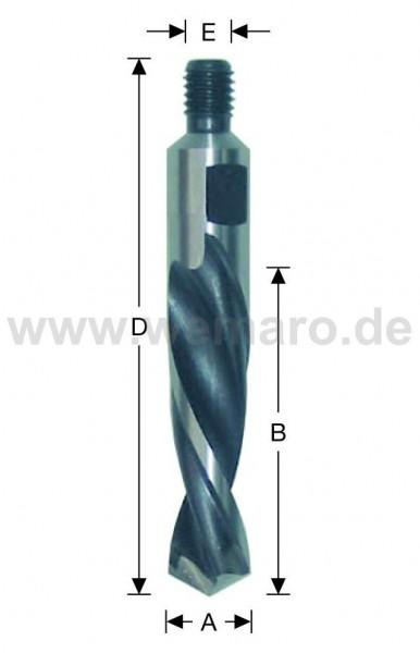 Olivenbohrer HSS-E, M-8 AG Konus 10x45/78 mm links, DF