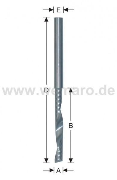 Wasserschlitzfräser VHM 6x40/80 mm S-6 - CNC-Ausführung -