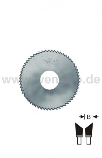 Glasleisten-Sägeblatt HSS 103x2,1x32 mm Z-60 rechts 45°