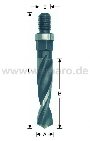 Olivenbohrer HSS-E, M-10 AG 12x80/113 mm rechts, DF