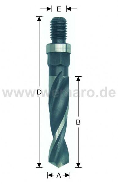 Olivenbohrer HSS-E, M-10 AG 14x30/76 mm rechts, DF