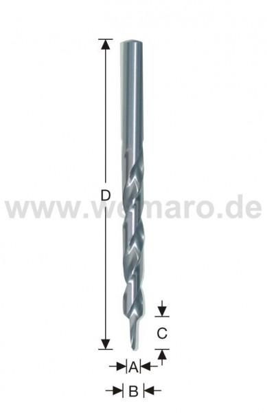 Stufenbohrer HSS d= 6,4x15/12x151 mm, 90°