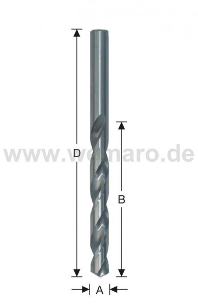 Spiralbohrer HSS, DIN 338 N d= 7,5 mm, geschliffen
