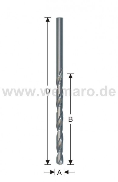Spiralbohrer HSS-G, DIN 1869 d= 8,0 mm, geschliffen