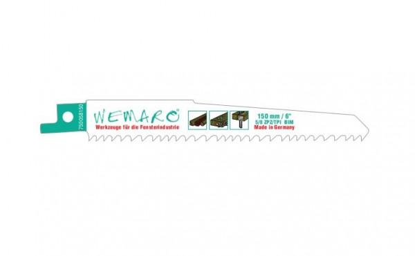 Säbelsägeblätter 130/150 mm variable Verzahnung VE=10 Stück für alle Holzarten mit Metal