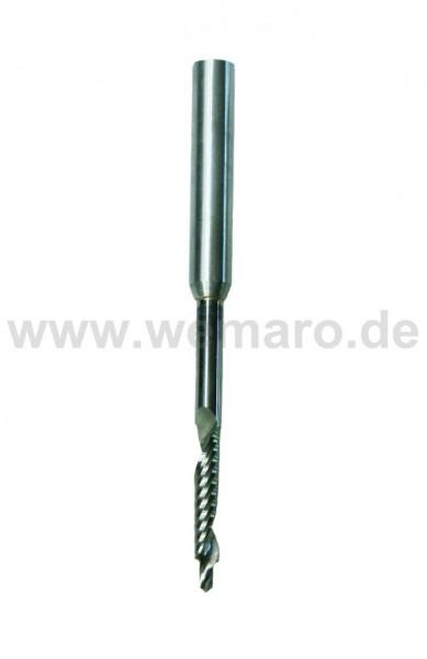 Wasserschlitzfräser VHM 2,7/5x25/80 mm S-8 RL/RD mit Stahlschaft 8 mm