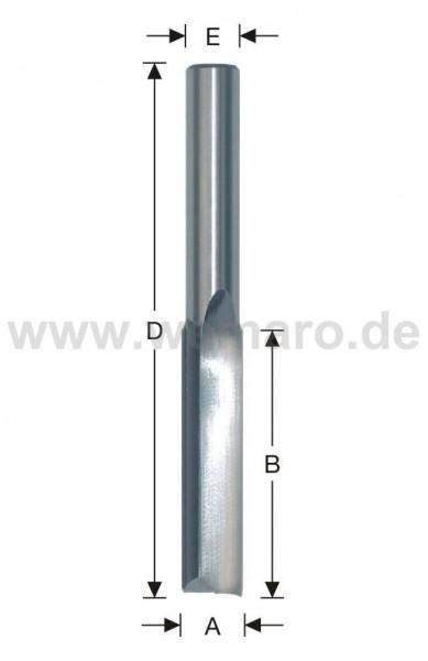 Bohrnutenfräser HM-bestückt 12x40/97 mm S-10, Z-2 gerade