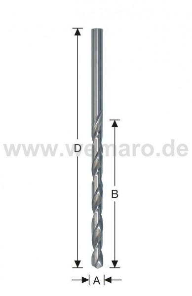 Spiralbohrer HSS-G, DIN 1869 d= 4,5 mm, geschliffen