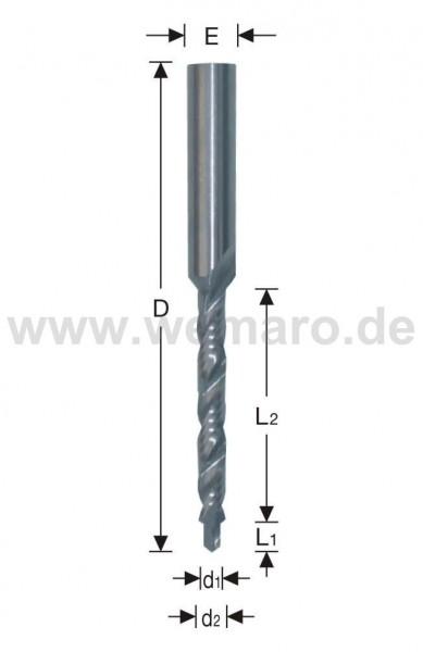 Stufenfräser VHM 2,0/4,5x5/20/60 mm S-8