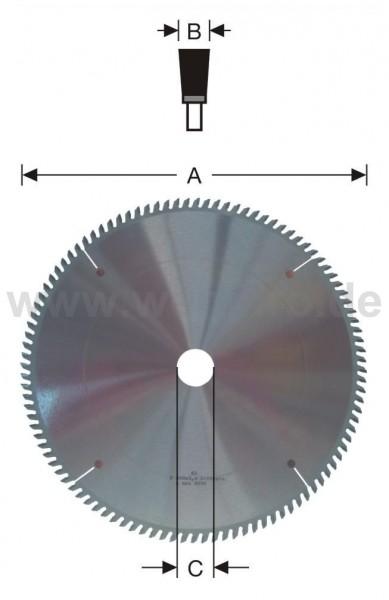 Ausklinksägeblatt HM-bestückt 450x4,0x40 mm Z-108 pos. F
