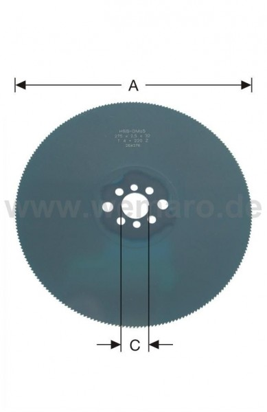 Metallkreissägeblatt HSS DM05, dampfbeh. 275x2,5x40 mm Z-72