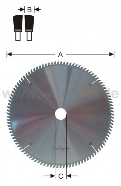 Ausklinksägeblatt HM-bestückt 500x4,4x50 mm Z-120 pos.