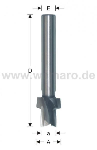Stufenfräser HSS-E 10,5/17,5 mm GL-75 S-10 links