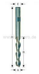 Bohrnutenfräser HSS-E 4x12/60 mm S-8, Z-2 spiralig