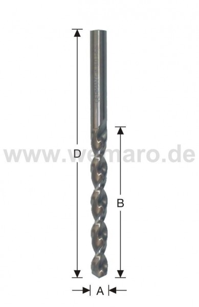 Spiralbohrer HSS CO, DIN 338 N d= 7,5 mm Spezial