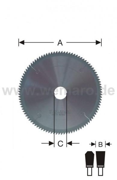 Glasleisten-Sägeblatt HM-bestückt 225x2,0/1,6x32 mm Z-100 neg.