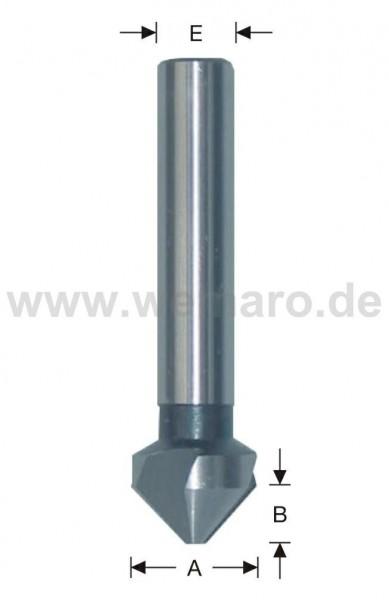Kegel-/Entgratsenker HSS, 90° 10,0x4,0 mm S-6, Z-3 rechts