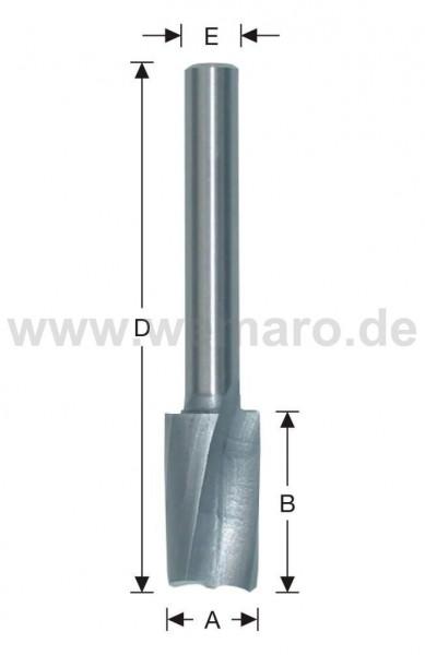 Schlosskastenfräser HSS-E 12x50/90 mm S-8, Z-2 spiralig