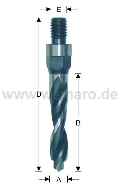 Olivenbohrer HSS-E, M-10 AG 12x35/76 mm rechts, mit Vorbohrer
