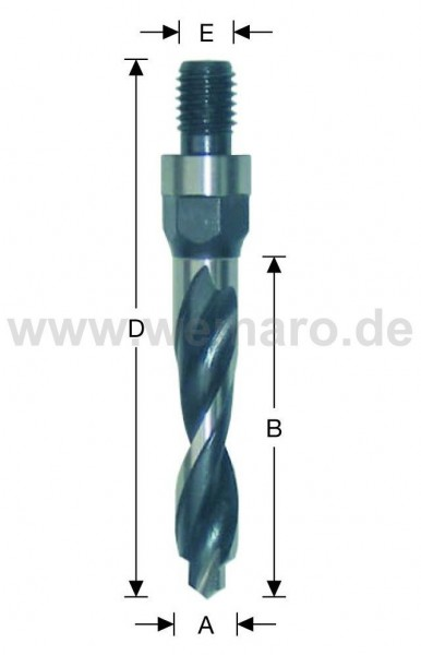 Olivenbohrer HSS-E, M-10 AG 10x80/113 mm rechts, mit Vorbohrer