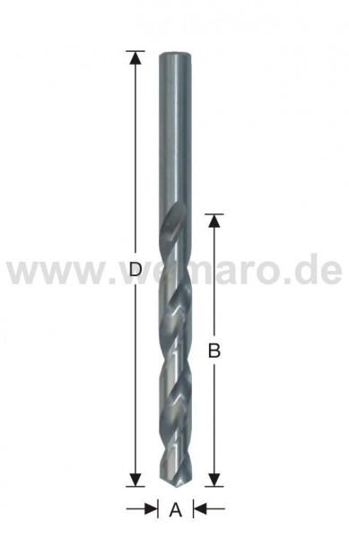 Spiralbohrer HSS, DIN 338 N d= 3,5 mm, geschliffen