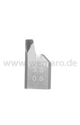 Sichtflächen-Abstechmesser B-19 mm, Nutbr. 3,0 mm, T=0,5 mm links