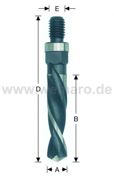 Olivenbohrer HSS-E, M-10 AG 12x30/72 mm links, DF