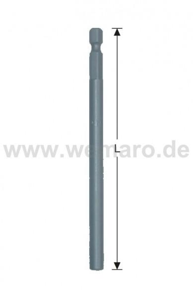 """Bit-Verlängerung 1/4"""" E 6.3 UNF10/32, L-158 mm"""