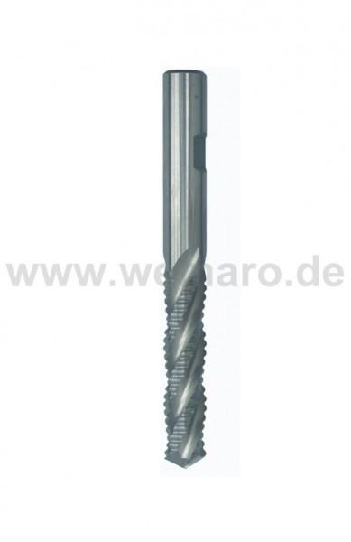 Bohrnutenfräser HSS-E 12x53/110 mm S-12, Z-4 Schruppverzahnung mit Bohrspitze
